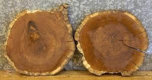 2 white oak cut edge wall clock plaque wood