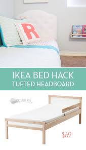 diy ikea bed a diy tufted headboard an ikea hack for a toddler bed