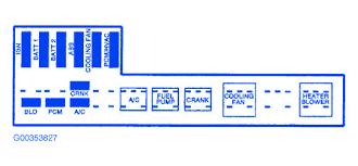 chevy cavalier 2004 mini fuse box block circuit breaker diagram