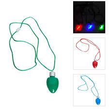 flashing christmas light necklace buy miles kimball christmas flashing light bulb necklace in cheap