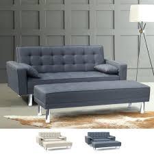 canapé avec repose pied canapé lit clic clac 2 places avec repose pieds accoudoirs coussins