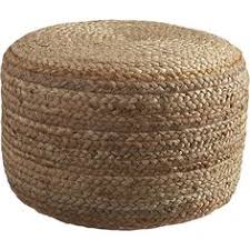 Cheap Pouf Ottoman Wool And Jute Pouf Ottoman Collections Vintage Ivory Cracker