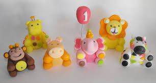 safari cake toppers edible girl zoo jungle party animals safari cupcake or cake