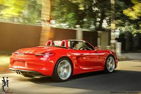 Porsche Boxster Red - porsche boxster s 981 in india team bhp