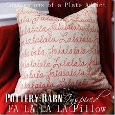 Christmas Pillows Pottery Barn Confessions Of A Plate Addict No Sew Pottery Barn Inspired Fa La