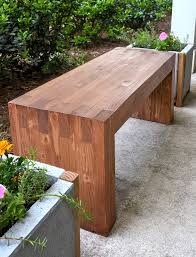 Wood Garden Bench Plans by Williams Sonoma Inspired Diy Outdoor Bench Woods Modern And