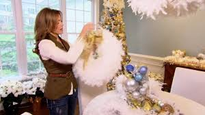 how to make a feather boa wreath with lisa robertson youtube