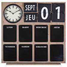tableau cuisine maison du monde horloge en ardoise déco ardoise horloge et intérieur
