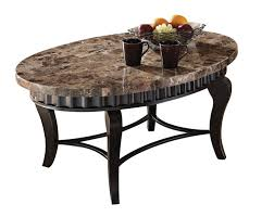 Coffee Table Granite Furniture Oval Brown Granite Top Coffee Table With Curved Black