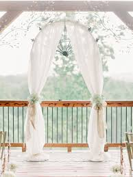 wedding arches decorated with tulle wolf mountain vineyards wedding from arrington photography