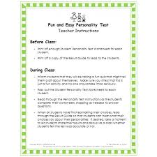 and easy personality test