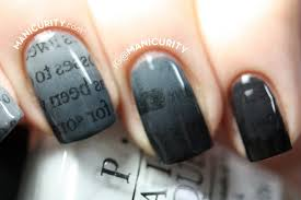 newspaper ombre nail art