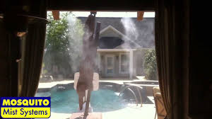 Patio Misting System Diy by Coolest Outdoor Kitchen Misting System Youtube