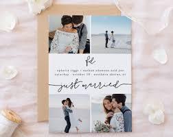 wedding announcement cards wedding announcement etsy