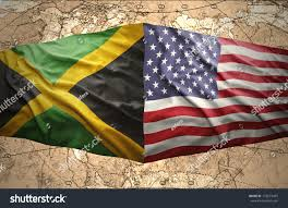 Jamaican Flag Day Waving Jamaican American Flags On Political Stock Illustration