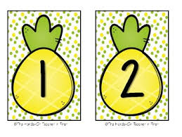pineapple table numbers for your classroom tables tpt