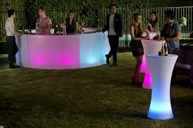glow illuminated led furniture hire sales rentals sunshine coast