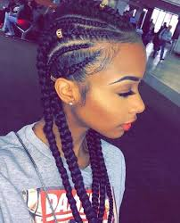 cornrows hairstyle with part in the middle 45 cornrow braids to twist and turn your world hairstylec