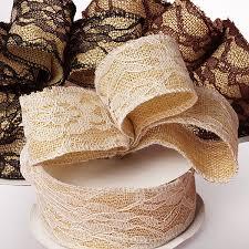 burlap and lace ribbon burlap lace ribbon