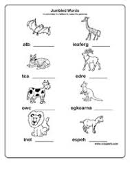 jumbled words worksheets activity sheets for kids kindergarten