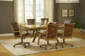 Kitchen Chairs With Rollers Dining Room Chairs With Rollers 8082
