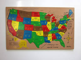 wooden usa map puzzle with states and capitals us map puzzle owl and mouse interactive us map united states of
