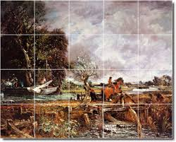 Kitchen Mural Backsplash John Constable Country Backsplash Tile Mural 11