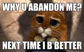 Me Next Time Meme - why u abandon me next time i b better sad cat quickmeme