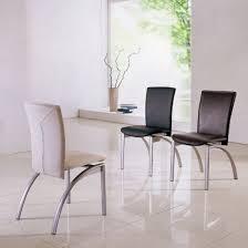 Metal And Leather Dining Chairs Dining Room Cool Dining Room Decorating Ideas With Small White