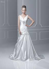 silk wedding dress discount designer a line wedding dresses silk like satin v neck