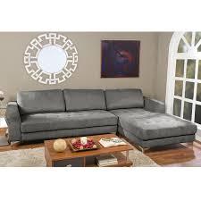 living room baxton studio brigitte gray modern sectional sofa