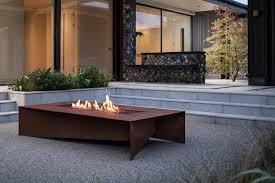 fold 72 fire table in corten steel paloform