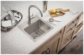 Undermount Kitchen Sink With Faucet Holes Faucet Com Ectsr15159bg0 In No Faucet Holes By Elkay
