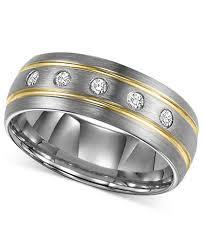 mens diamond wedding bands triton men s diamond stripe wedding band in tungsten carbide 1 6