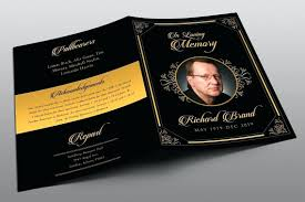 funeral program designs simple funeral program template