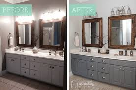 Dewils Creme Brulee Paint With by Painting A Bathroom Vanity Before And After