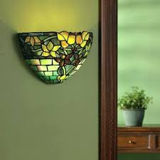 Battery Wall Sconce Lighting Wireless Art Lighting Remote Sconce Wall Sconces Stained Glass