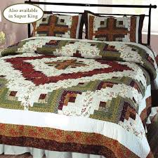 Cabin Bedroom Furniture Sets by Log Cabin Patchwork Quilt Bedding