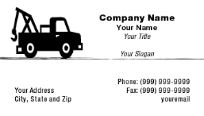 Tow Truck Business Cards Template At30107 Tow Truck
