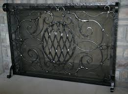 bronze fireplace screens 3 panel flat screen uniflame 860