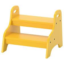 trogen children u0027s step stool yellow 40x38x33 cm ikea