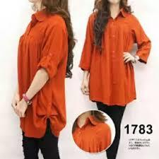 Baju Muslim Ukuran Besar f fashion kemeja wanita jumbo size bata baju jumbo kemeja
