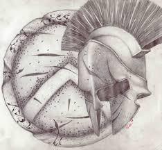 personal spartan shield and helmet tattoo concept tattoomagz