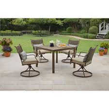 Mainstays Crossman 7 Piece Patio Dining Set Green Seats 6 Better Homes And Garden Patio Furniture Replacement Parts Home