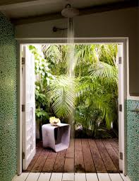 bathroom impressive garden with wooden deck for tropical
