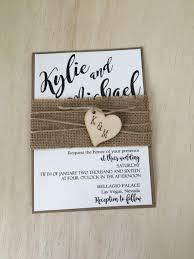 rustic wedding invitation burlap wedding invitation country
