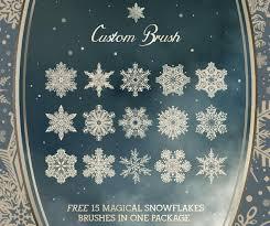 35 free photoshop christmas brushes for winter holidays