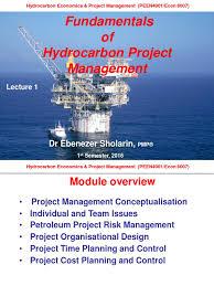 fundamentals of petroleum project management project management fundamentals of petroleum project management project management strategic management