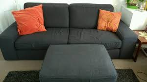 IKEA Kivik  Seater Sofa Storage Footstool In Sale Manchester - Sofa and footstool
