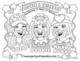 funny joker cute clown coloring pages kids aim